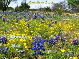 Adorer avec une vie sainte