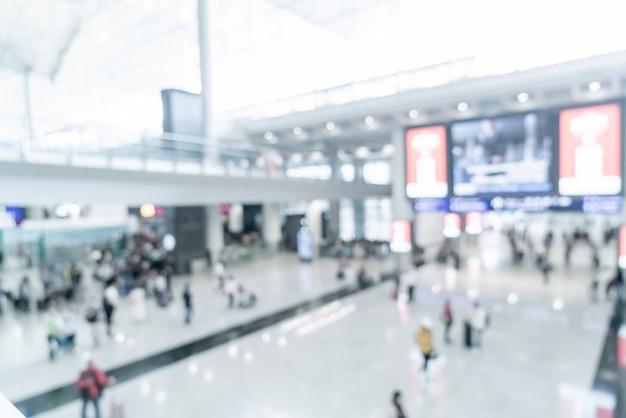 Aéroport flou abstrait et défocalisé
