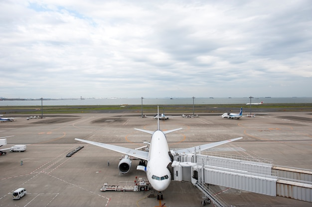 Aéroport de haneda à tokyo, japon: 23 septembre 2011.