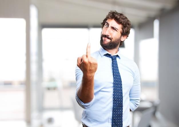 Affaires folle expression de colère