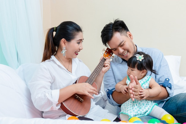 Affection de la famille avec détente