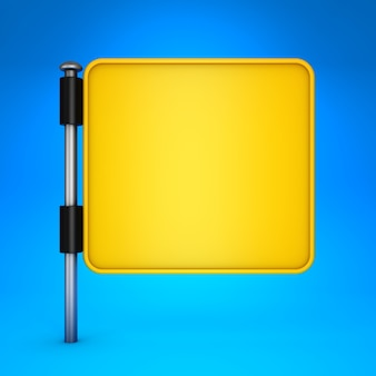 Affichage carré jaune blanc.