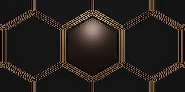 Affichage du produit cadre hexagonal fond de texture de marbre blanc pour le texte et les marchandises illustration 3d