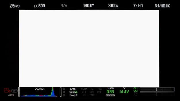 Affichage de l'écran du moniteur d'enregistrement et texte d'informations détaillées et isolé.