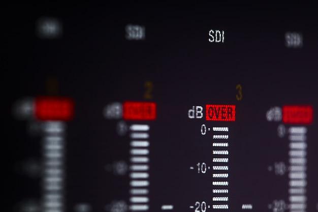 Affichage de l'enregistreur vidéo professionnel avec signal d'avertissement.