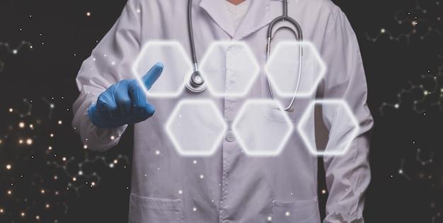 Affichage holographique d'écran tactile de docteur