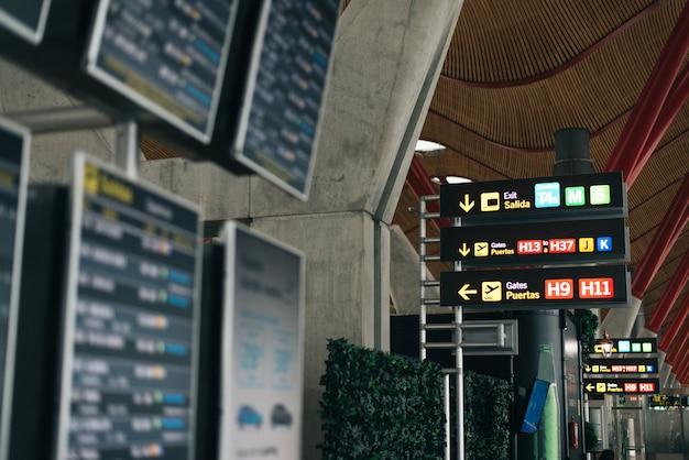 Affichage des horaires de l'aéroport