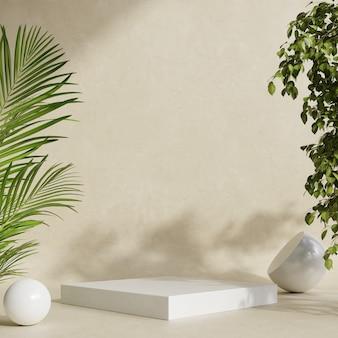 Affichage de maquette de podium avec présentation du produit, rendu 3d