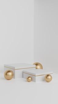 Affichage de produits pour podium géométrique de luxe simple minimalis