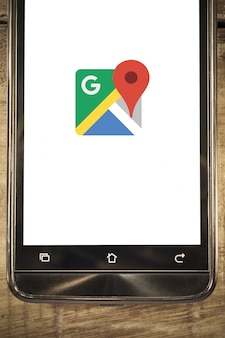 Affichage de téléphone intelligent google maps fond de l'application