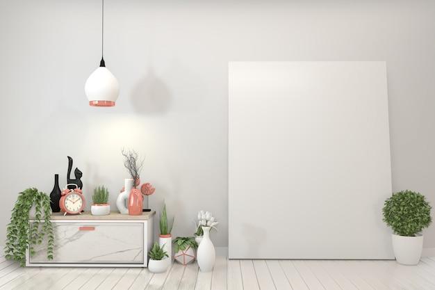 Affiche armoire et cadre en granit.