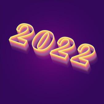 Affiche de bonne année concept coloré créatif, carte, invitation. modèle de conception avec logo de typographie. numéros de texture grunge.