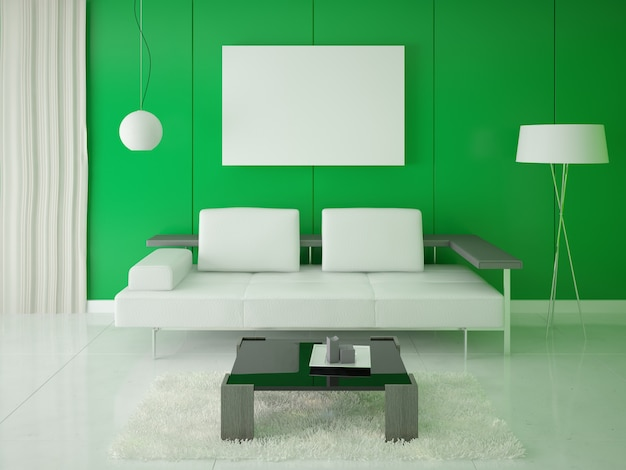 Affiche de conception hi-tech avec fond vert