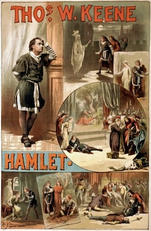 Affiche hamlet de william shakespeare