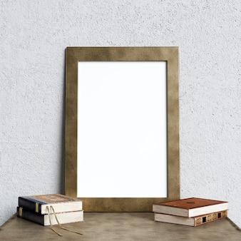 Affiche maquette intérieur avec décoration de livres