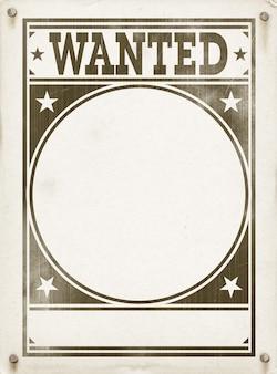 Affiche de recherche vide. design vintage sur vieux parchemin