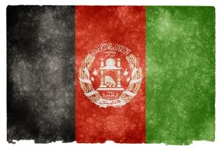 Afghanistan flag grunge