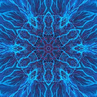 Agate de pierre lapis-lazuli bleu minéral, marbre aquarelle marine, motif répétitif de coupe géométrique. illustration d'un motif de texture de pierre ronde de fond