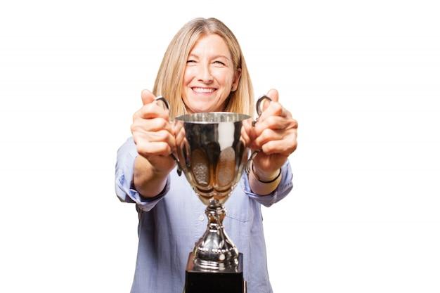 Âge transportez la personne gagnante succès