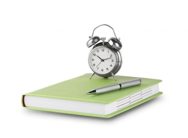 Agenda avec stylo et réveil