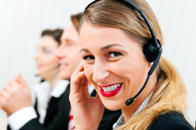 Agents du centre d'appels