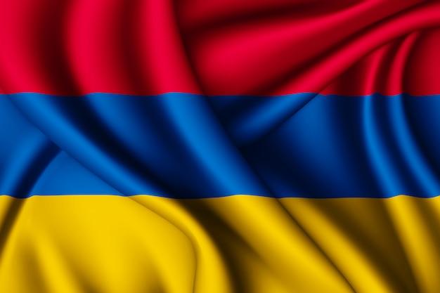 Agitant le drapeau de l'arménie