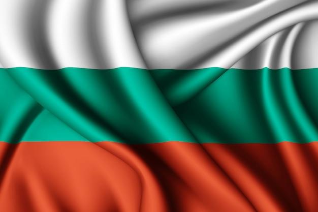 Agitant le drapeau de la bulgarie