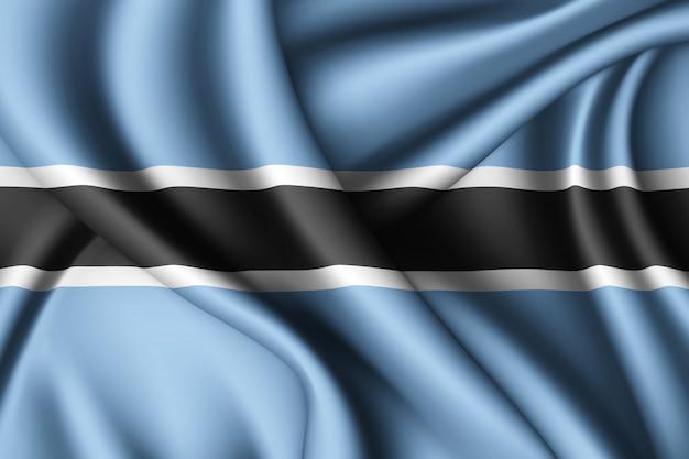Agitant le drapeau de la soie du botswana