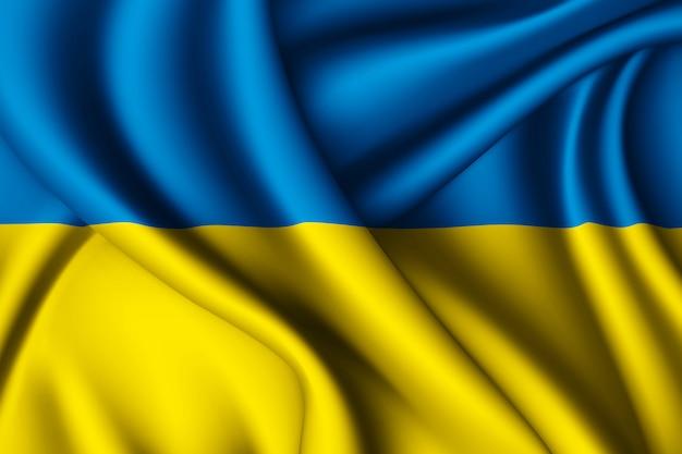 Agitant le drapeau de l'ukraine