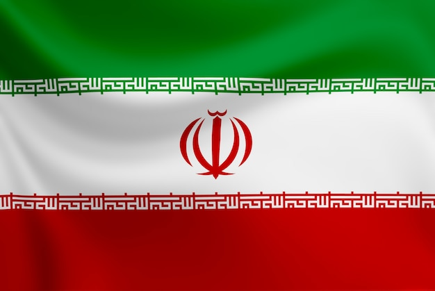 Agitant du drapeau iranien.