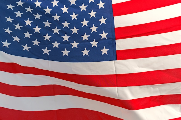 Agitant étoile et rayures drapeau américain