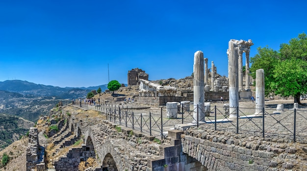 Agora dans la ville antique de pergame, turquie