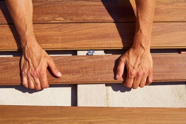 Agrafes d'installation en bois de plate-forme de plate-forme d'ipé d'attaches