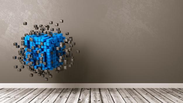 Agrégation de cubes dans la pièce isolée