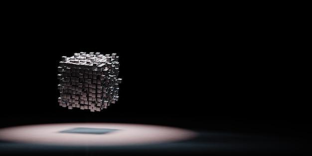 Agrégation de cubes sous les projecteurs isolée