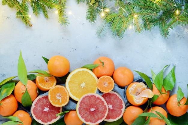 Agrumes orange, citron, pamplemousse, mandarine, citron vert