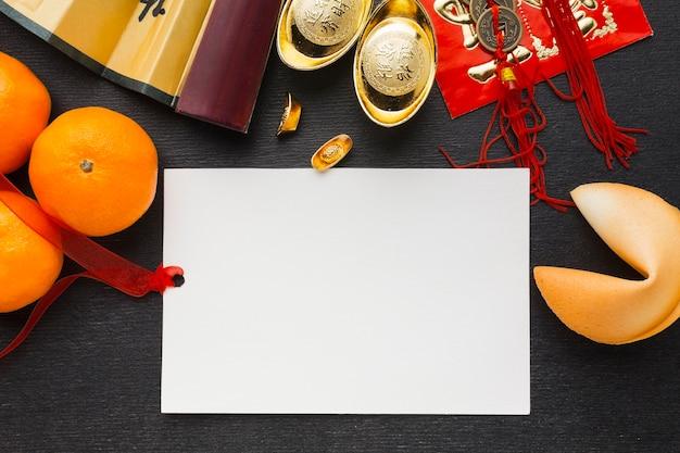 Agrumes pour l'espace de copie du nouvel an chinois