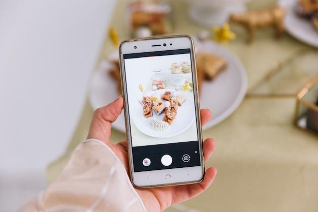 Aïd al-fitr concept avec écran smartphone