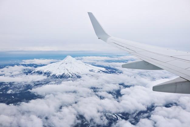 De l'aile de l'avion