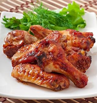Ailes de poulet au four dans le style asiatique