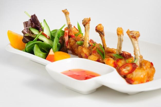 Ailes de poulet au piment frites