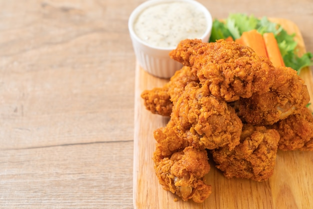 Ailes de poulet frites épicées
