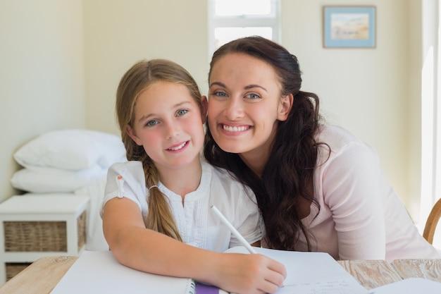 Aimer sa mère et sa fille à la table