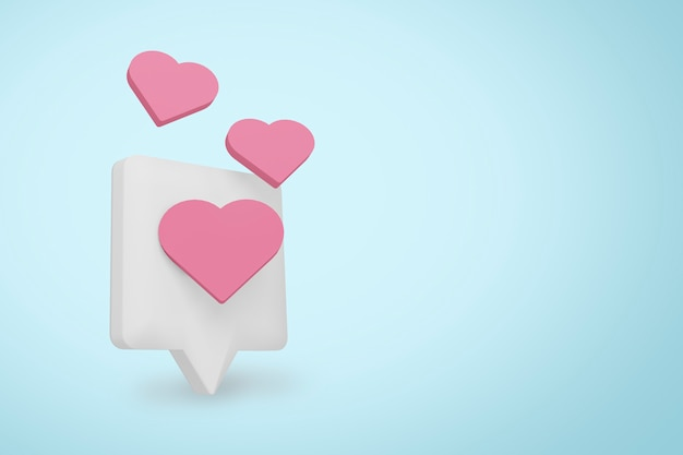 Aimez et aimez l'icône de notification des médias sociaux.