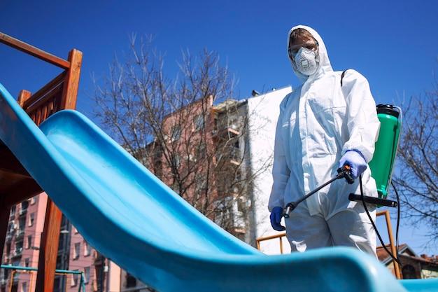 Aire de jeux pour enfants désinfectant et désinfectant contre les virus et les maladies