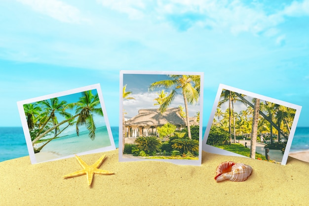 Album photo d'été du voyage