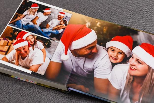 Album photo de famille, vacances de noël