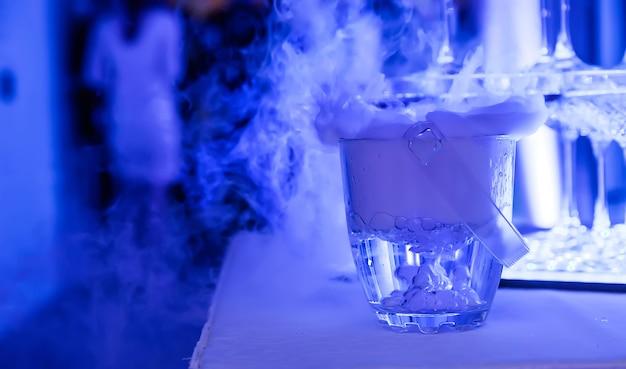 Alcool avec azote liquide au banquet