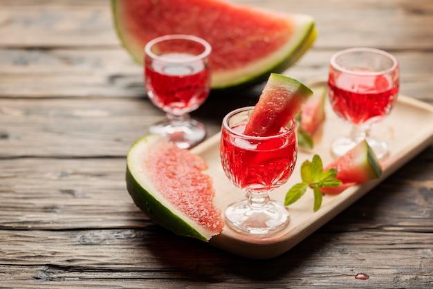 Alcool doux avec pastèque