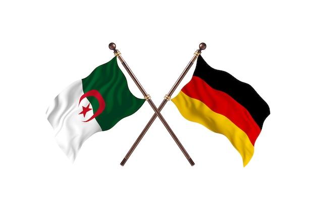 L'algérie contre l'allemagne deux drapeaux